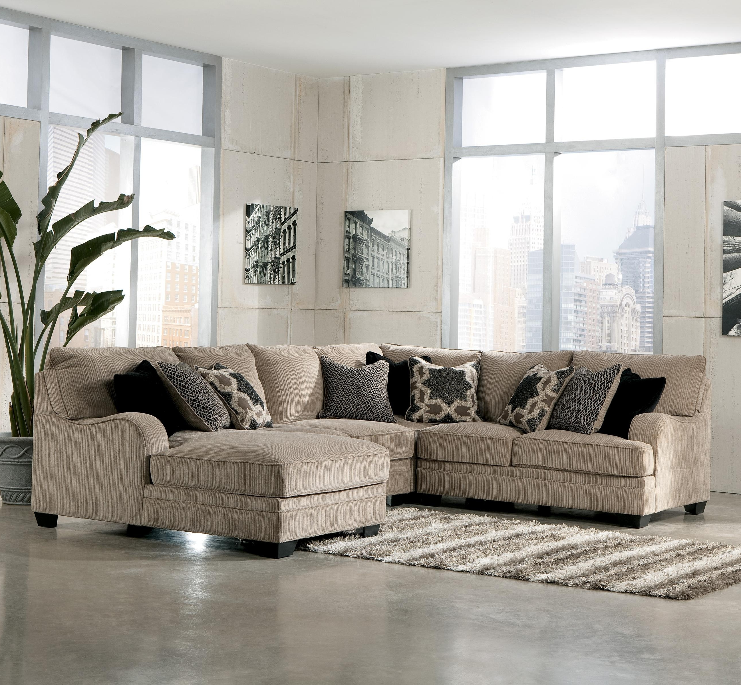 Kansas City Mo Sectional Sofas With Regard To Most Recently Released Signature Designashley Katisha – Platinum 4 Piece Sectional (View 17 of 20)