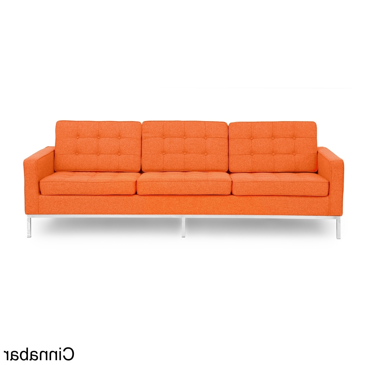 Kardiel Florence Knoll Style Sofa 3 Seat, Premium Fabric Intended For Preferred Florence Knoll Style Sofas (Gallery 11 of 20)