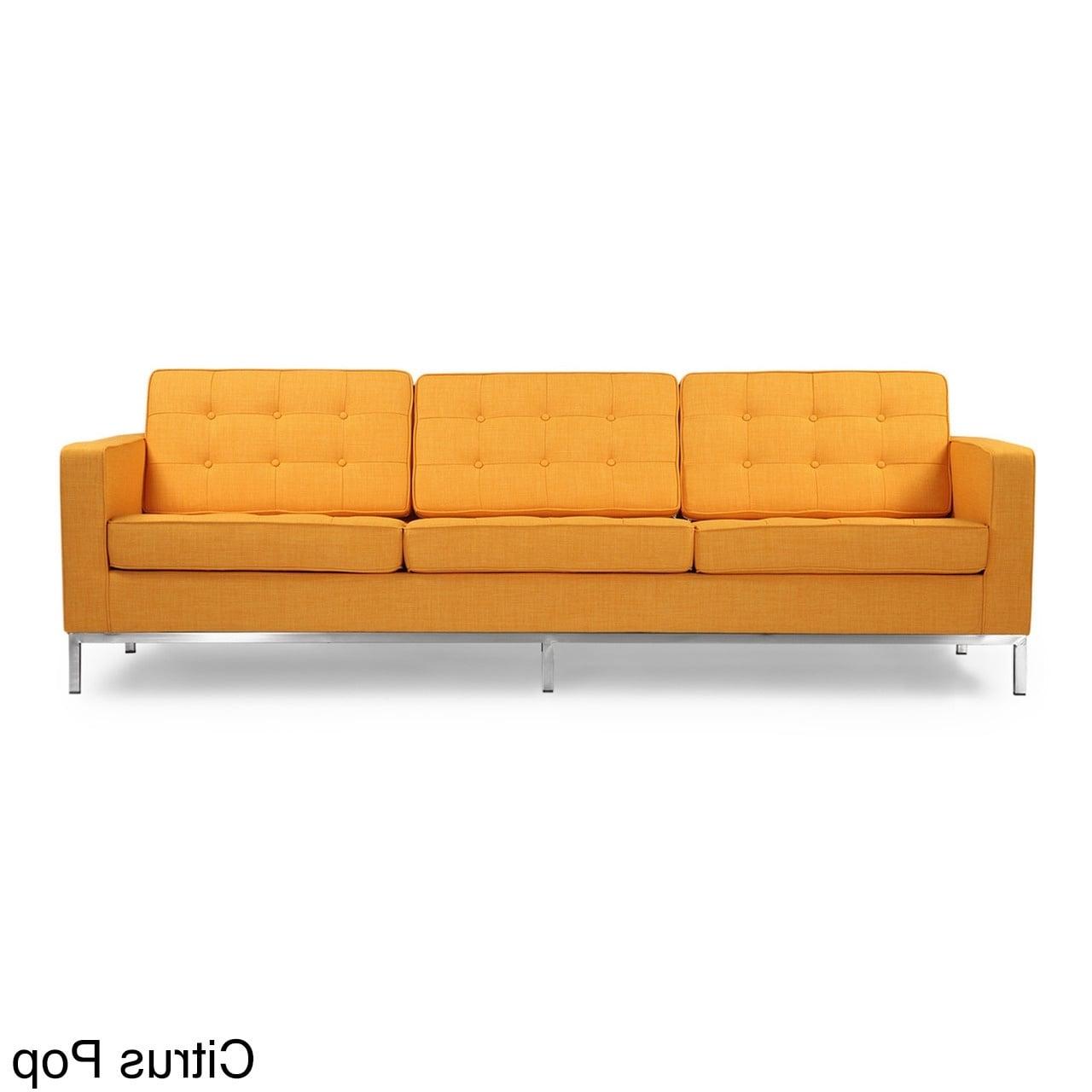 Kardiel Florence Knoll Style Sofa 3 Seat, Premium Fabric Within 2019 Florence Knoll Fabric Sofas (Gallery 4 of 20)