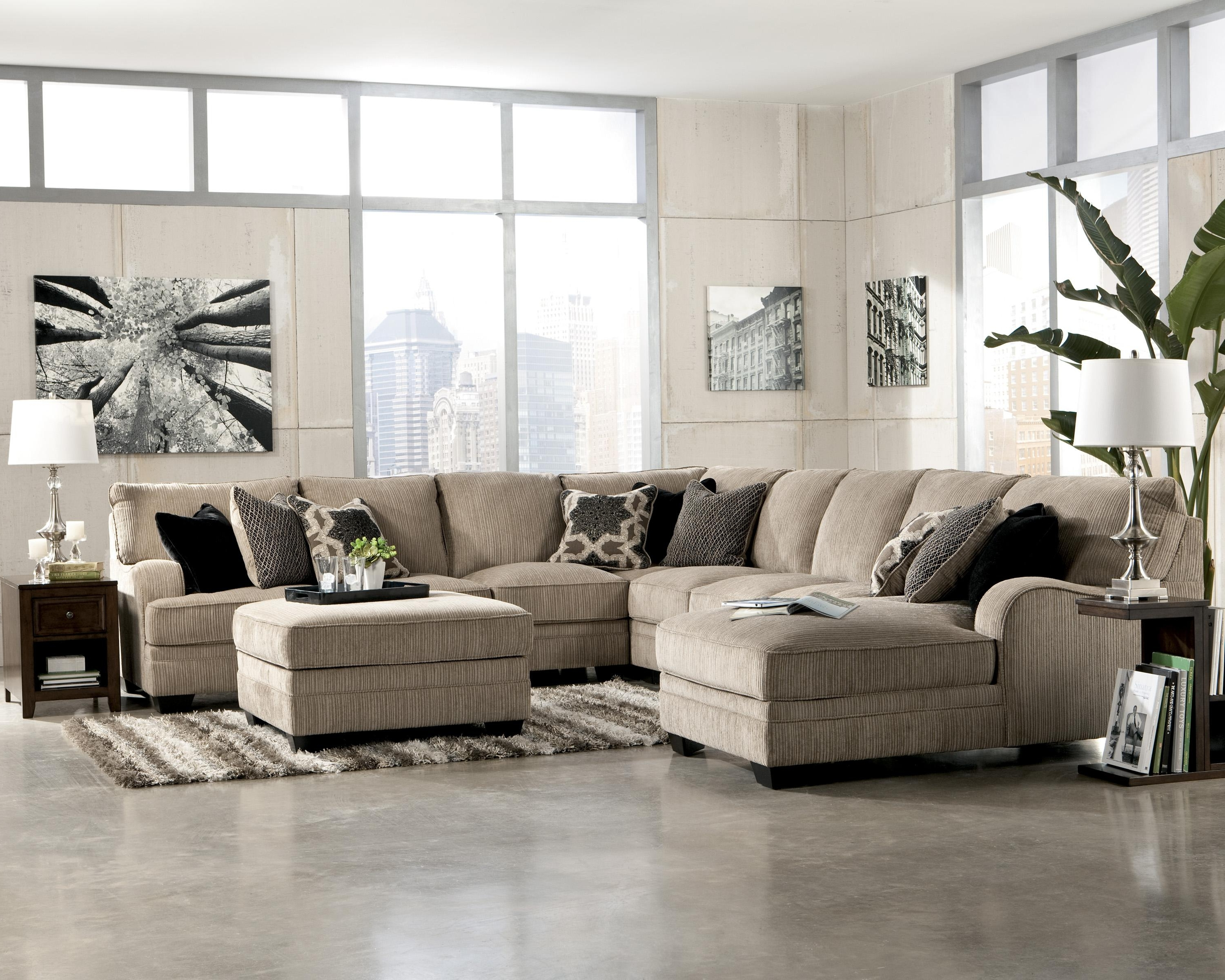 Katisha – Platinum 5 Piece Sectional Sofa With Left Chaise Regarding Well Known Jackson Ms Sectional Sofas (Gallery 3 of 20)
