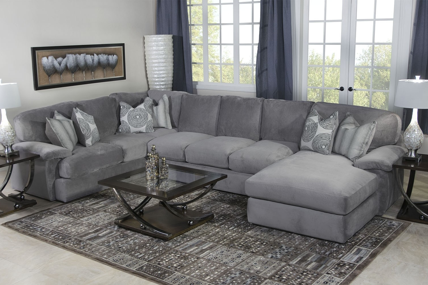 Key West Sectional Living Room In Gray Media Image (View 6 of 20)