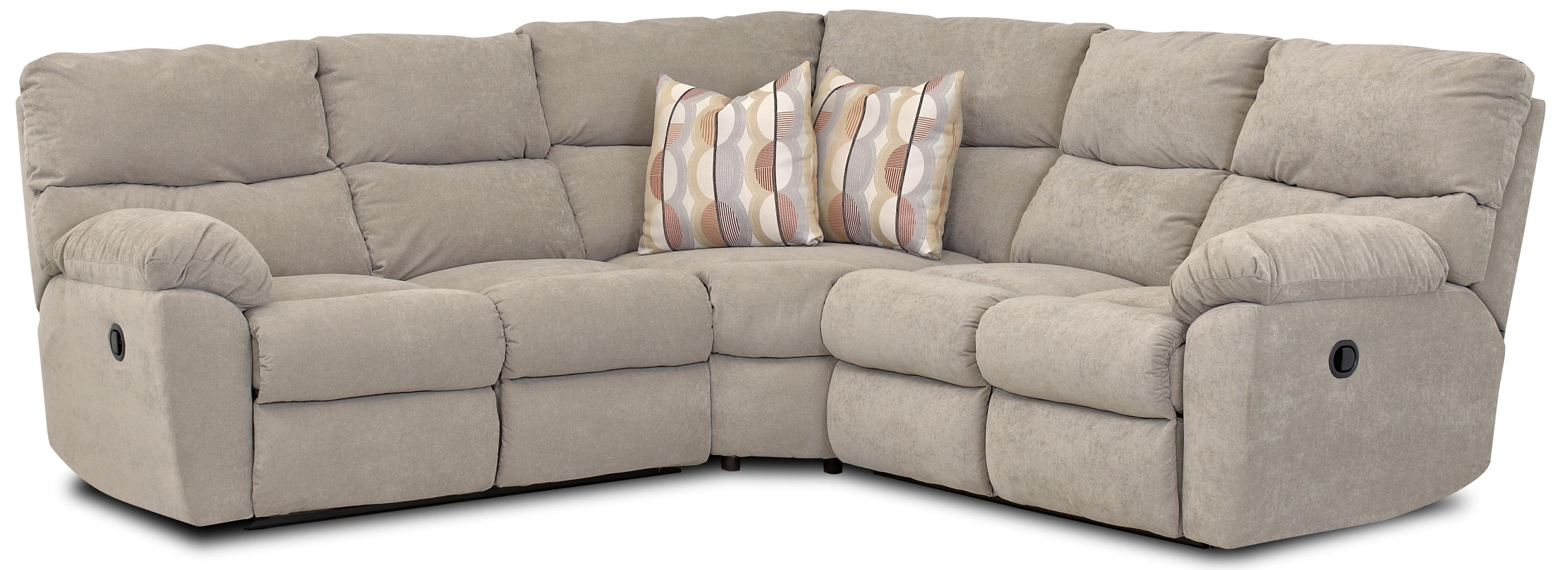 Klaussner Odessa Casual Power Reclining Sectional With Accent For Latest Johnny Janosik Sectional Sofas (View 14 of 20)