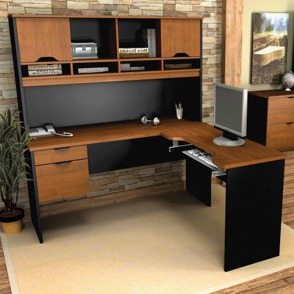 L Shaped Computer Desks Throughout Preferred Desk : Wooden Desk Computer Desk Deals L Shaped Computer Desk With (View 18 of 20)
