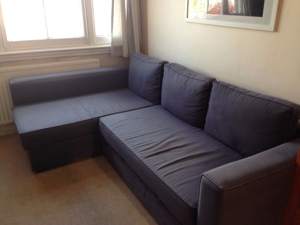 L Shaped Ikea Manstad Sofa Bed For Sale (View 9 of 20)