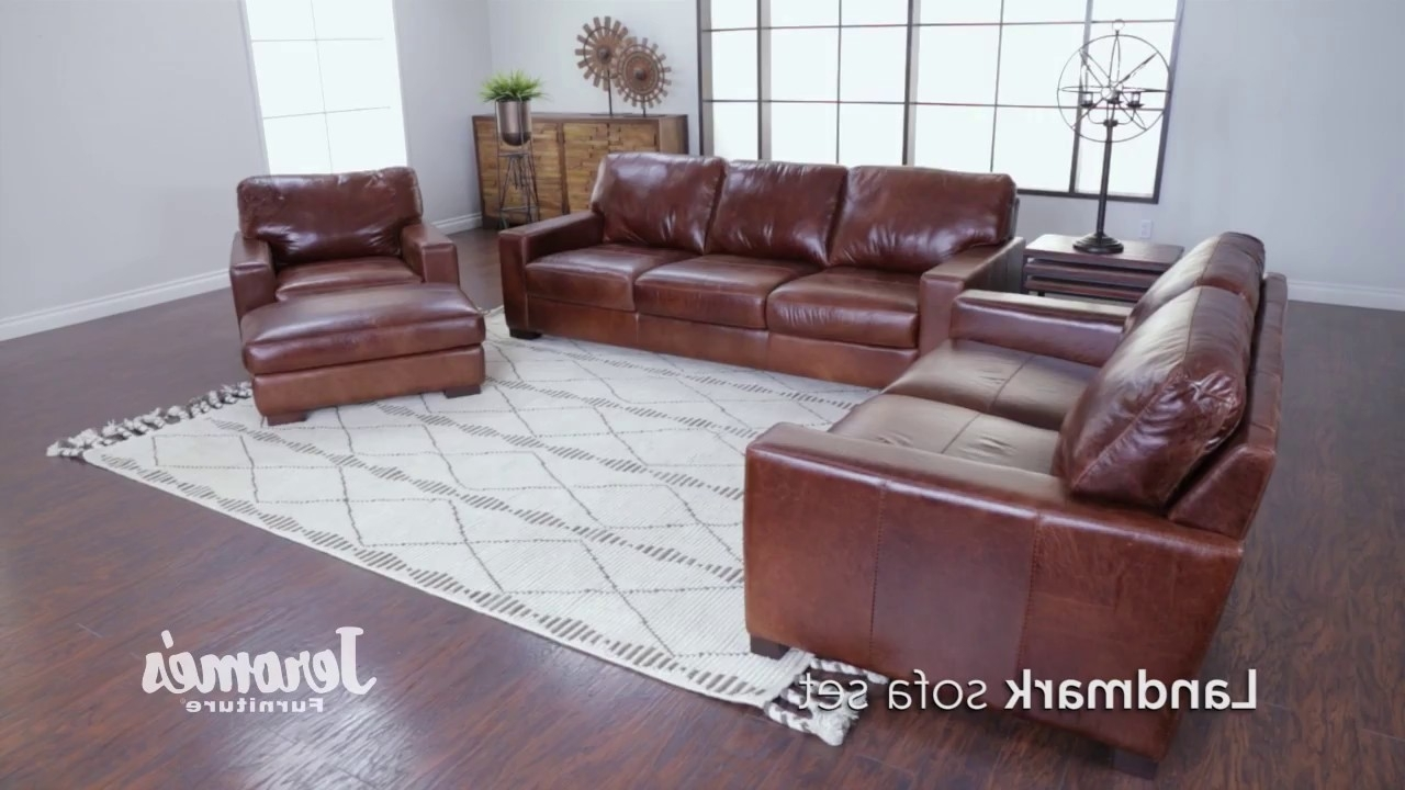 Landmark Leather Sofa U2013 Youtube (Gallery 18 Of 20)