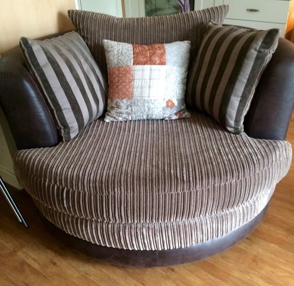 Large 4 Seater Sofa In Mocha Colour And Large Swivel Chair In Mink With Well Liked Large 4 Seater Sofas (View 4 of 20)