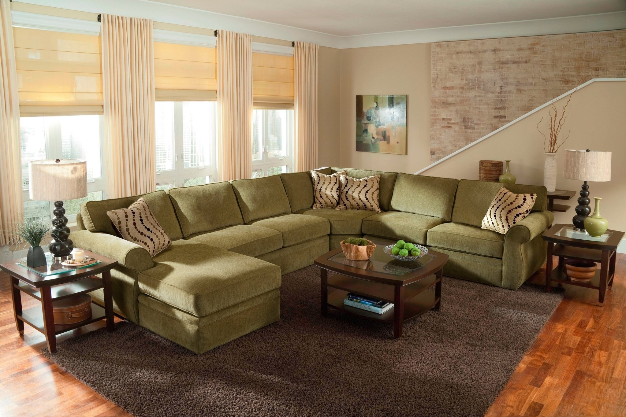 Large Comfortable Sectional Sofas Within Famous Large Scale U Shaped Sectional Sofa Set (View 10 of 20)