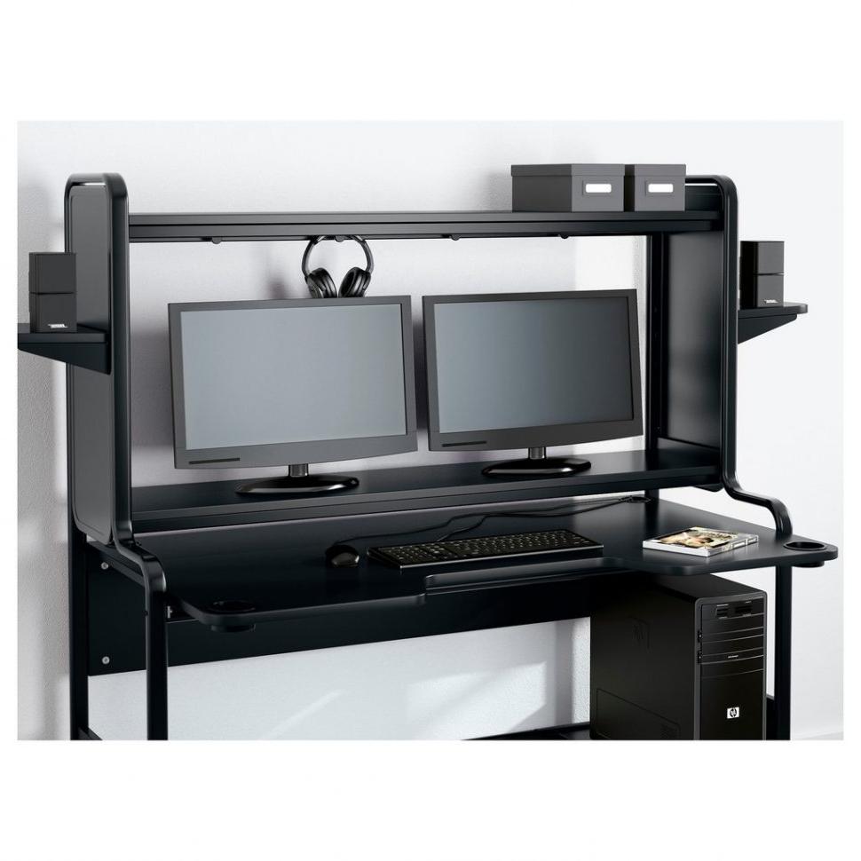 Large Computer Desks Inside Most Current Desk : Cabinet Desks Furniture Glass Desk With Drawers Desktop (View 11 of 20)