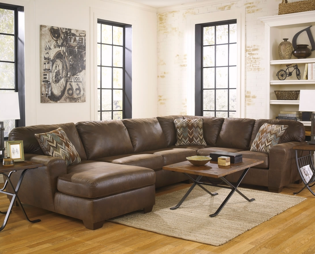 Large Dark Chocolate Leather Sectional Sofa With Chaise And Track Inside Current Chocolate Brown Sectional Sofas (View 14 of 20)