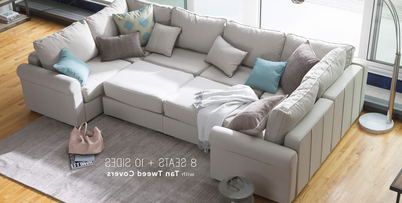 Large Leather Sectional Couches Pertaining To Macys Sectional Sofas (View 8 of 20)