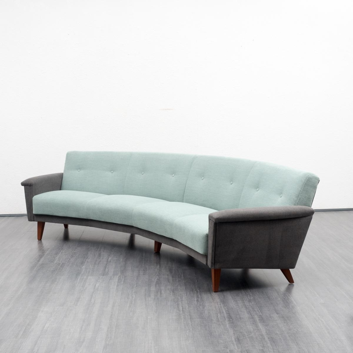 Large Semicircular Sofa, 1950S For Sale At Pamono Throughout Popular Semicircular Sofas (View 7 of 20)