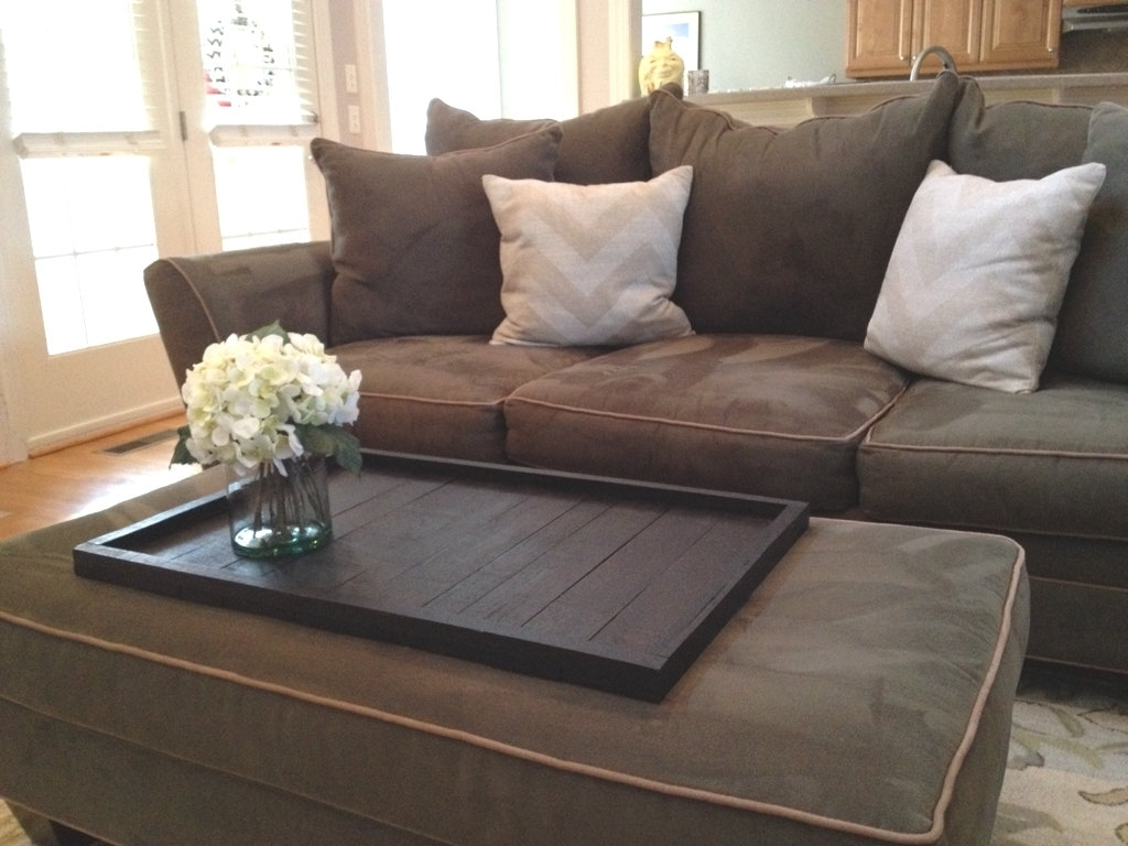Large Square Diy Coffee Table Tray For Ottoman Coffe Table In Throughout Best And Newest Sofas With Large Ottoman (View 5 of 20)