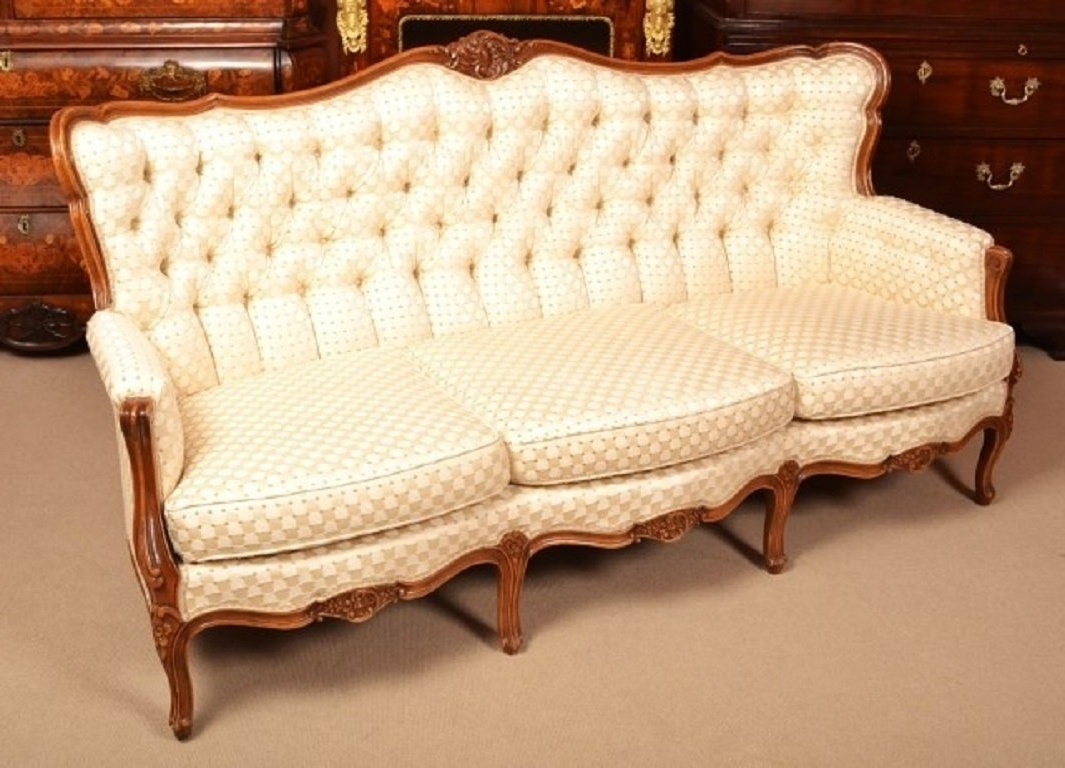 Latest 1930s Sofas Throughout Vintage Walnut Upholstered Sofaepstein C (View 20 of 20)