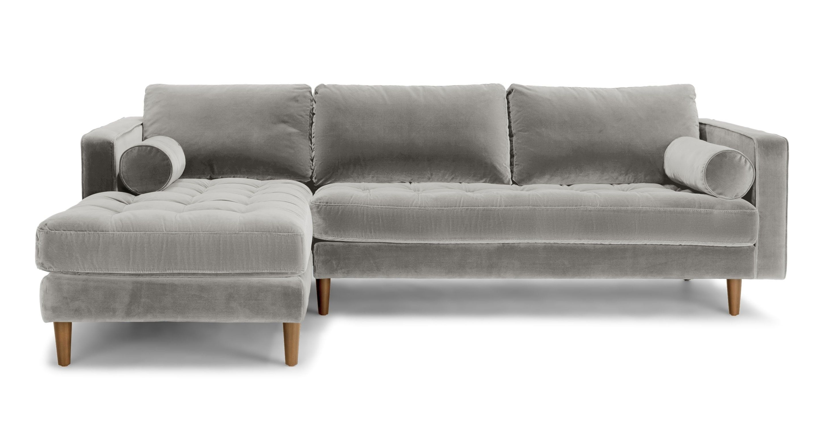 Latest Abbieht Chaise Sectional Sofa With Large Cushionsengland Ivy Pertaining To Regina Sectional Sofas (View 5 of 20)