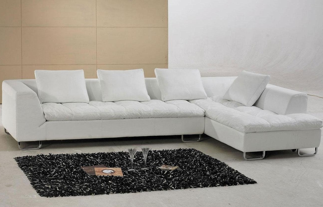 Latest Alluring White Leather Sectional Sofa Ideas For Living Room With White Sectional Sofas (View 6 of 20)