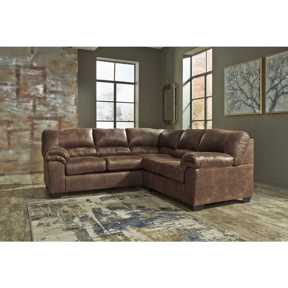 Latest Ashley Furniture Black Friday Hampton Leather Reversible Sectional Pertaining To Sectional Sofas At Sam's Club (View 4 of 20)