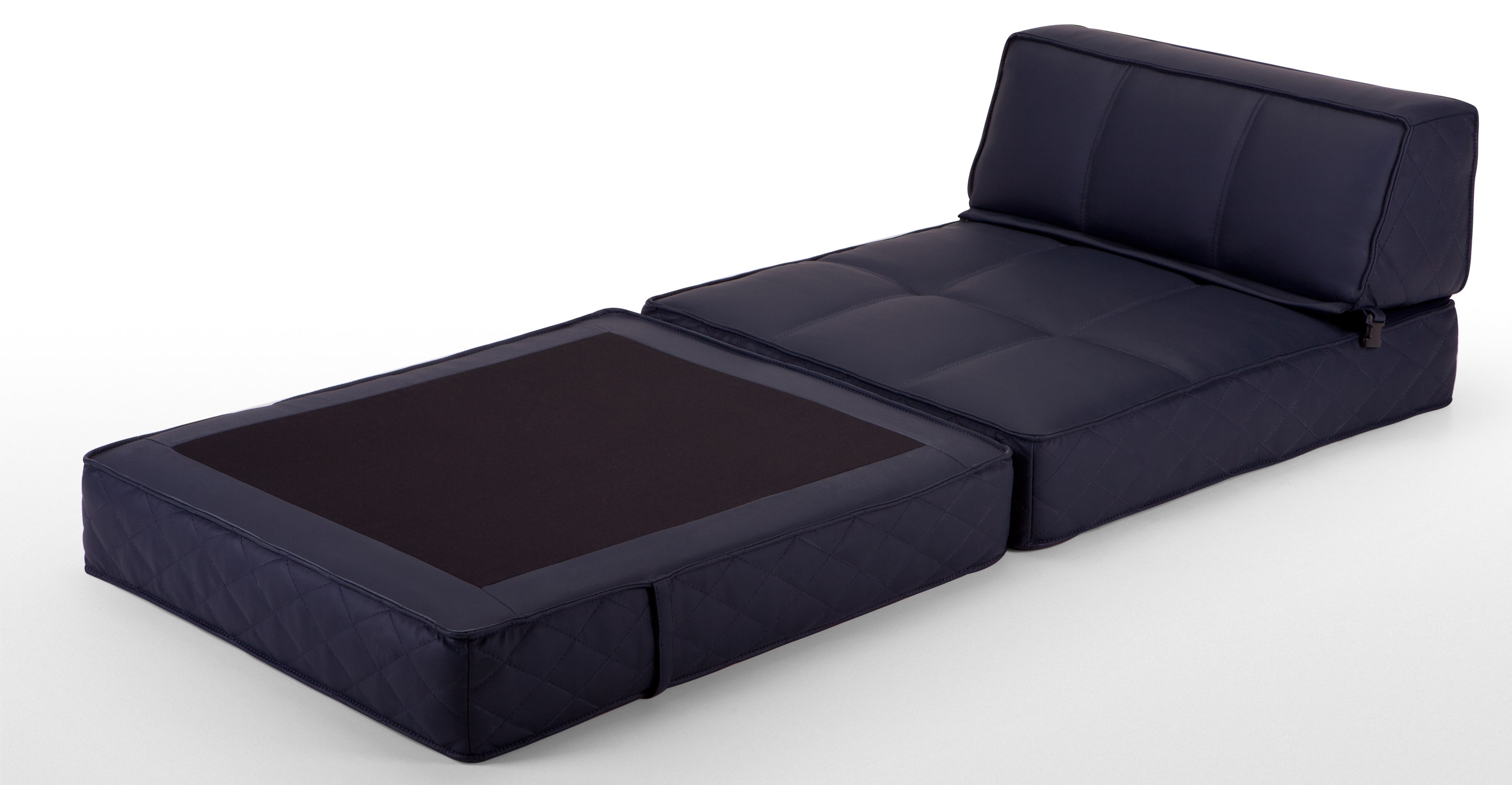 Latest Black Color Convertible Ottoman Folding Bed Sleeper With Mattress Within Fold Up Sofa Chairs (View 10 of 20)