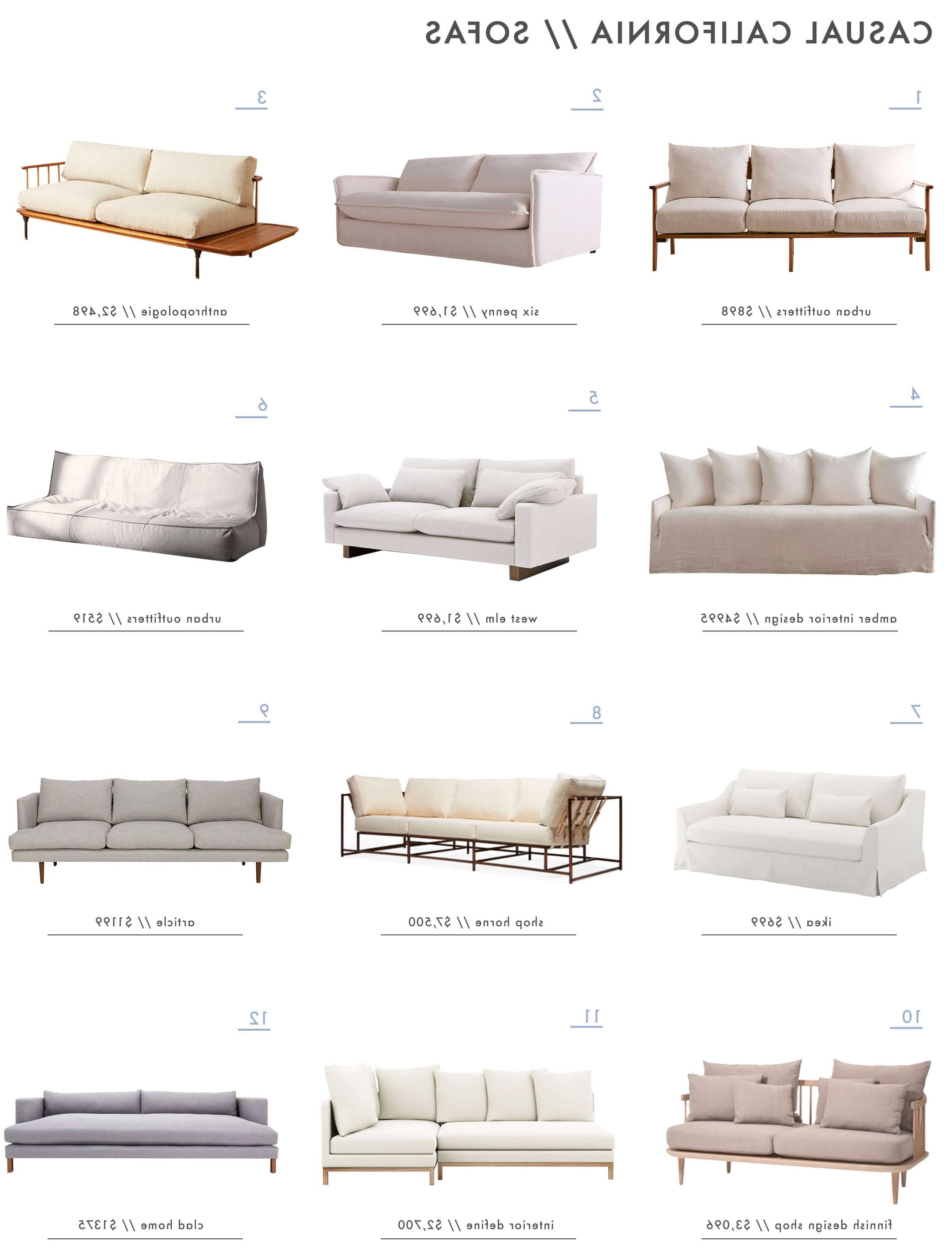 Latest Casual Sofas And Chairs Regarding Achieving The 'effortless Expensive' Style: Furniture – Emily (View 20 of 20)