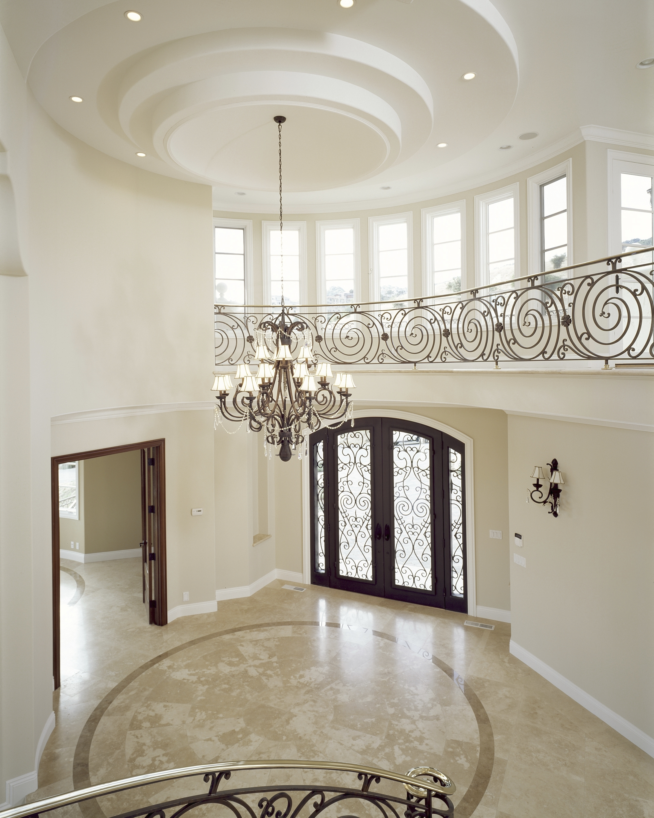 Latest Chandeliers Design : Amazing Brown Iron Holder Entryway Chandelier Within Small Hallway Chandeliers (View 11 of 20)
