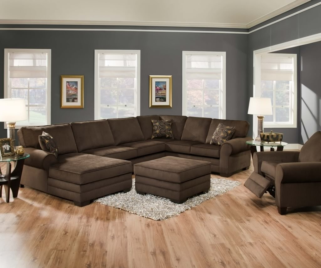 Latest Chocolate Brown Sectional Sofa With Chaise 15 With Chocolate Brown Throughout Chocolate Brown Sectional Sofas (View 13 of 20)