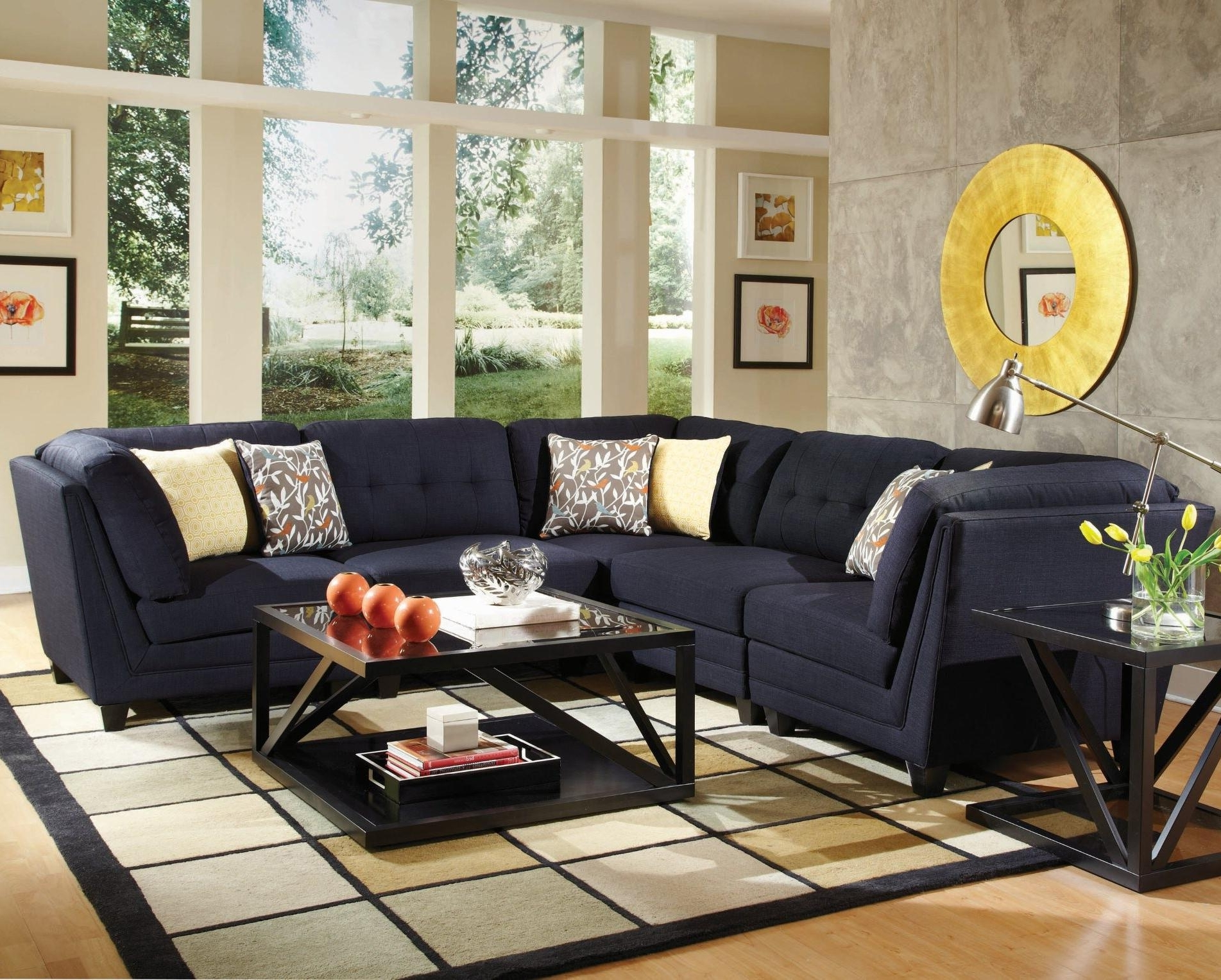 Latest Coaster Keaton Transitional Five Piece Sectional Sofa With Tufting Throughout Las Vegas Sectional Sofas (View 17 of 20)