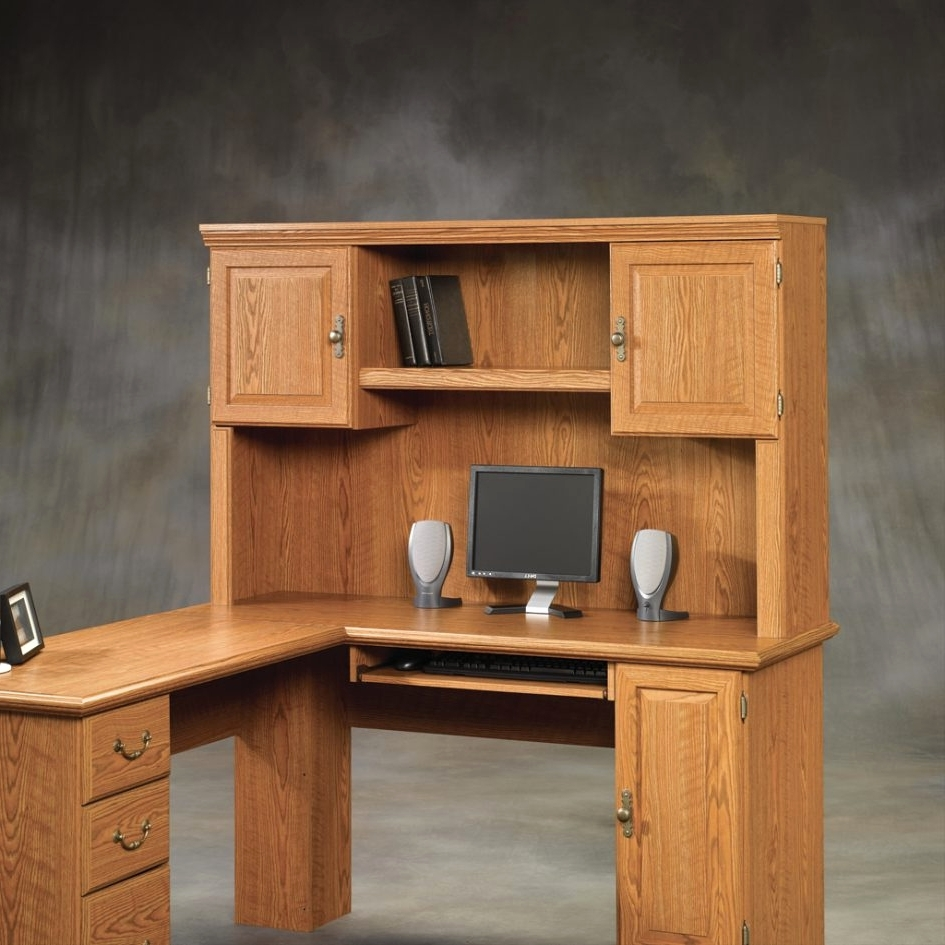 Latest Computer Desk With Doors Beautiful Desk Hutch Desk With Doors Throughout Computer Desks With Doors (View 12 of 20)