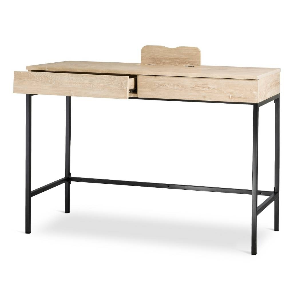 Latest Computer Desks At Target Throughout Darley Writing Desk – Vintage Oak – Threshold™ (View 6 of 20)