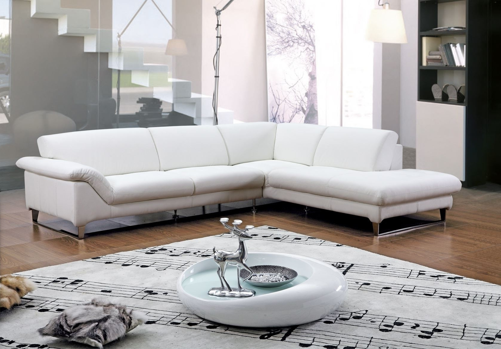 View Photos of White Leather Corner Sofas (Showing 15 of 20 ...