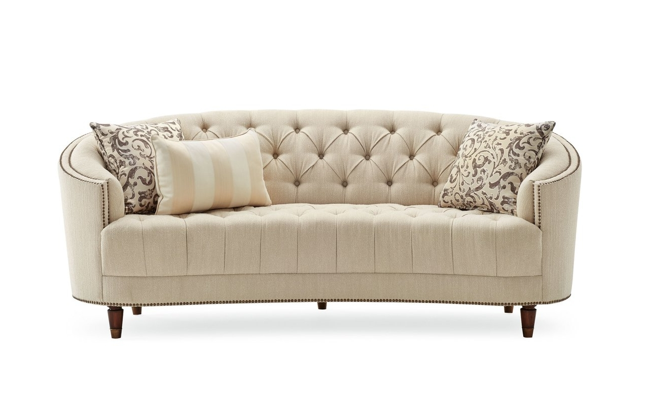 Latest Darby Home Co Frederic Tufted Curved Sofa & Reviews (View 16 of 20)
