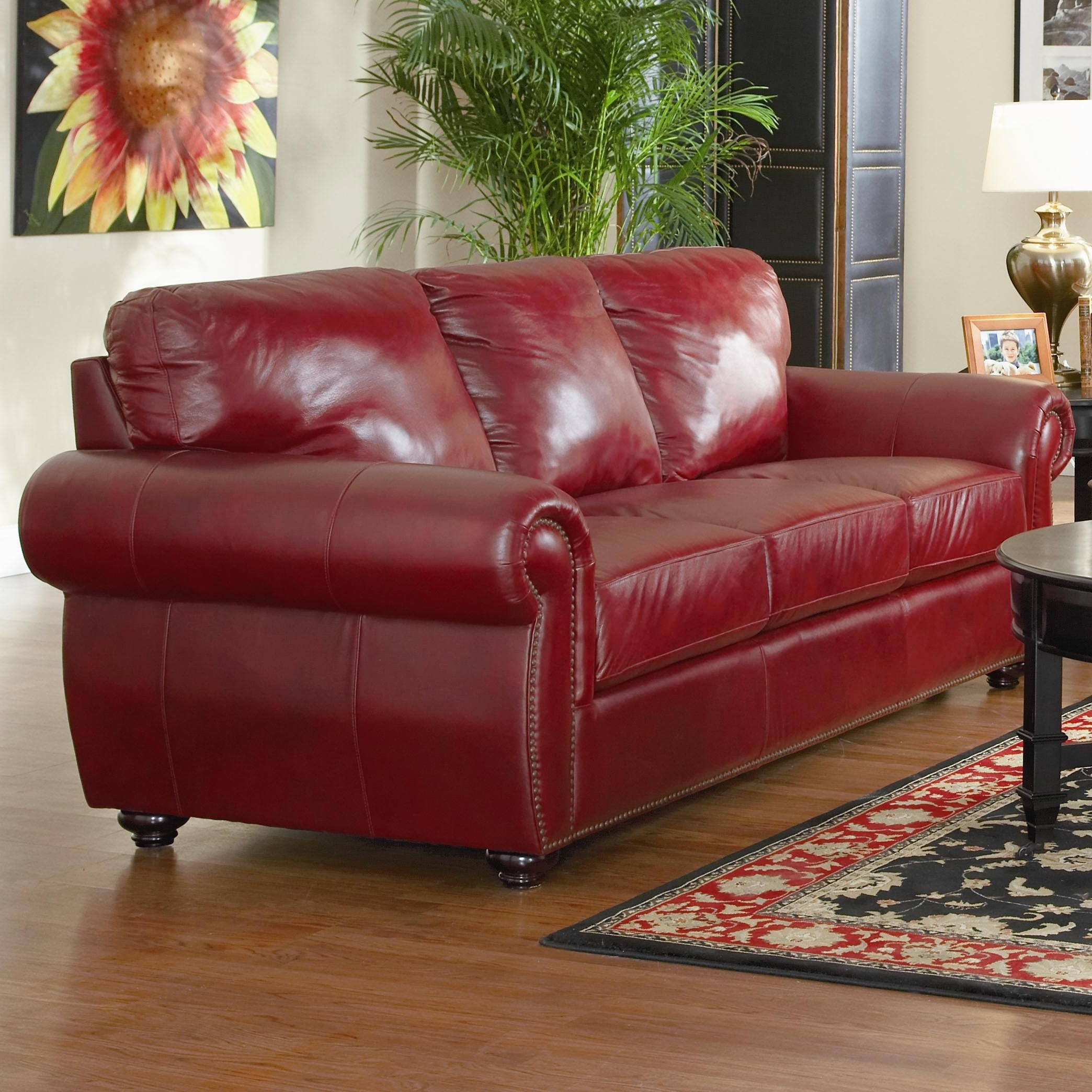 Latest Decorating Burgundy Leather Sofa U2013 Loccie Better Homes Gardens Ideas  For Red Leather Couches And