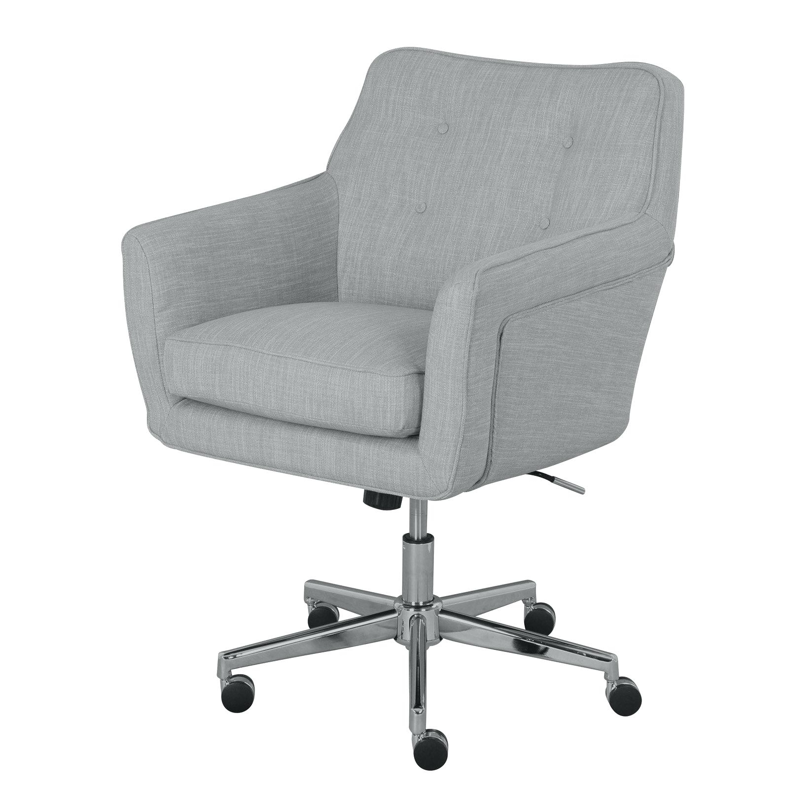 Latest Desk Chair Blue White Child Office Chairs Bean Bag Size Rolling Regarding Light Beige Microfiber Executive Office Chairs (View 8 of 20)