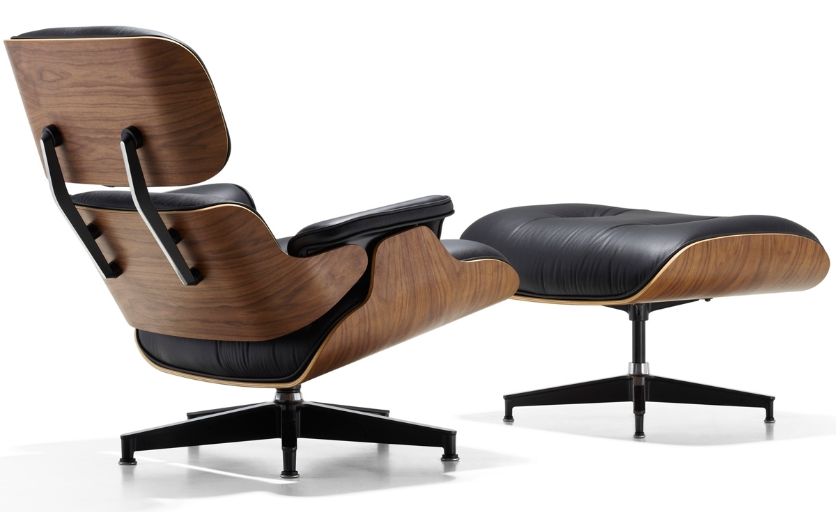 Latest Eames® Lounge Chair & Ottoman – Hivemodern With Regard To Chairs With Ottoman (View 10 of 20)