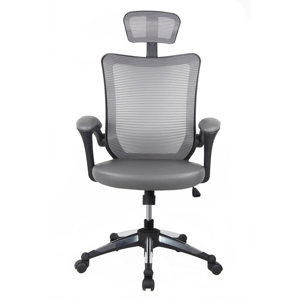 Latest Executive Office Chairs With Headrest Within Gray High Back Mesh Executive Office Chair With Headrest Rta 80X (View 18 of 20)
