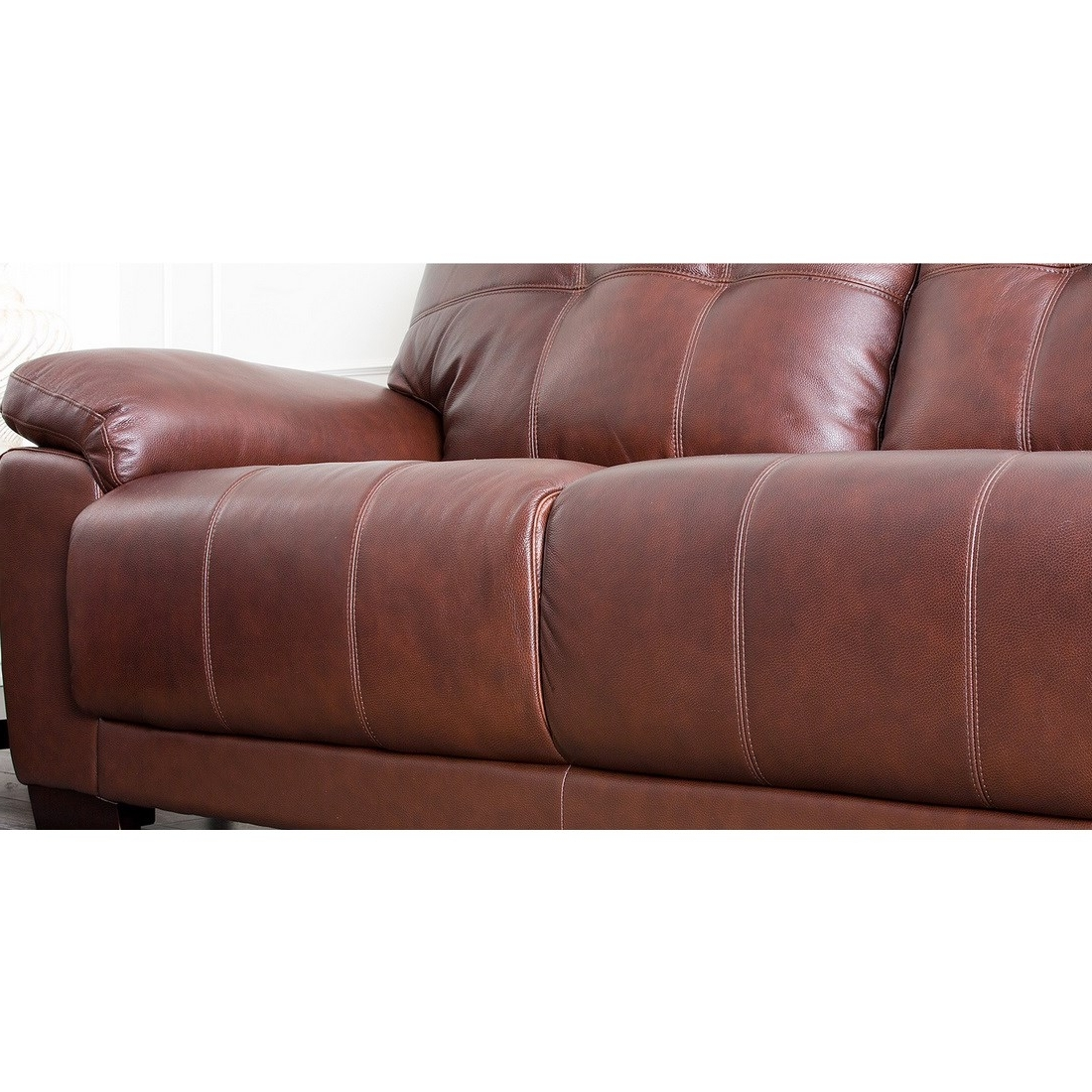 Latest Florence Leather Sofas For Abbyson Living Sf 5902 Cst 3 Florence Two Tone Brown Leather Sofa (View 4 of 20)