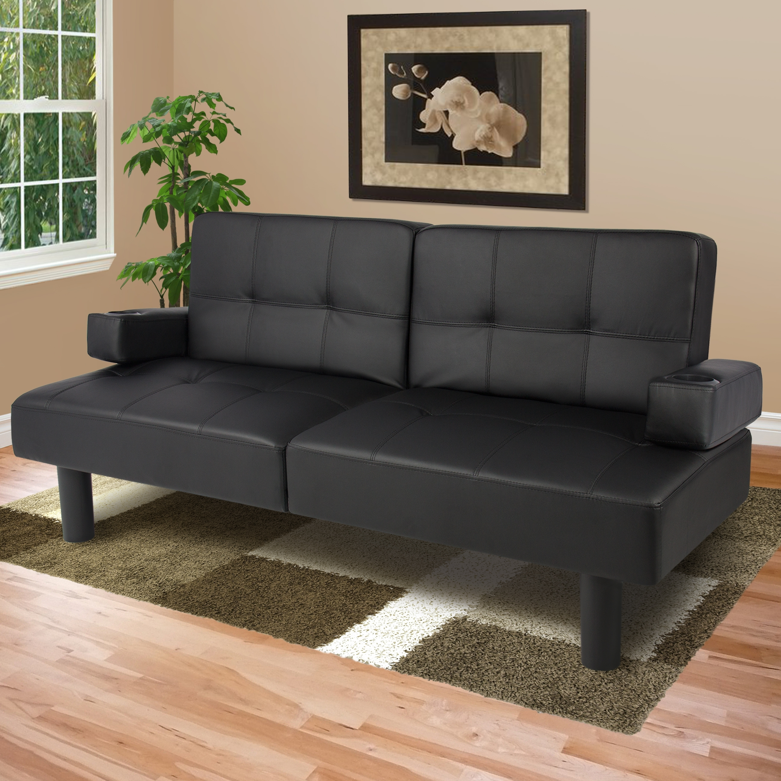 Latest Fold Up Sofa Chairs Intended For Best Choice Products Modern Faux Leather Fold Down Convertible (View 11 of 20)