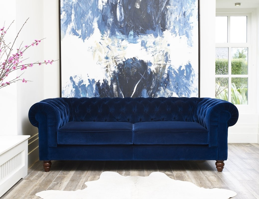 Latest Hazelwood Home Deluxe 3 Seater Chesterfield Sofa & Reviews Intended For Chesterfield Sofas (View 14 of 20)