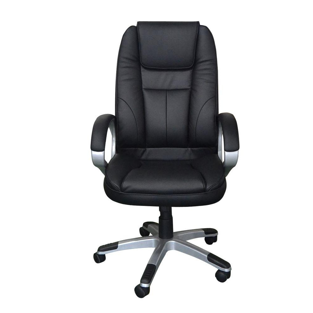 Latest Home Decorators Collection Black Faux Leather Executive Office Intended For Executive Office Chairs (View 14 of 20)