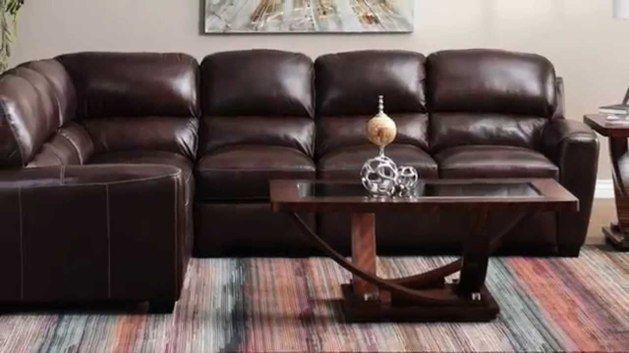 Latest Jerome's Furniture – Tuscany Leather Sectional – Youtube With Jerome's Sectional Sofas (View 10 of 20)