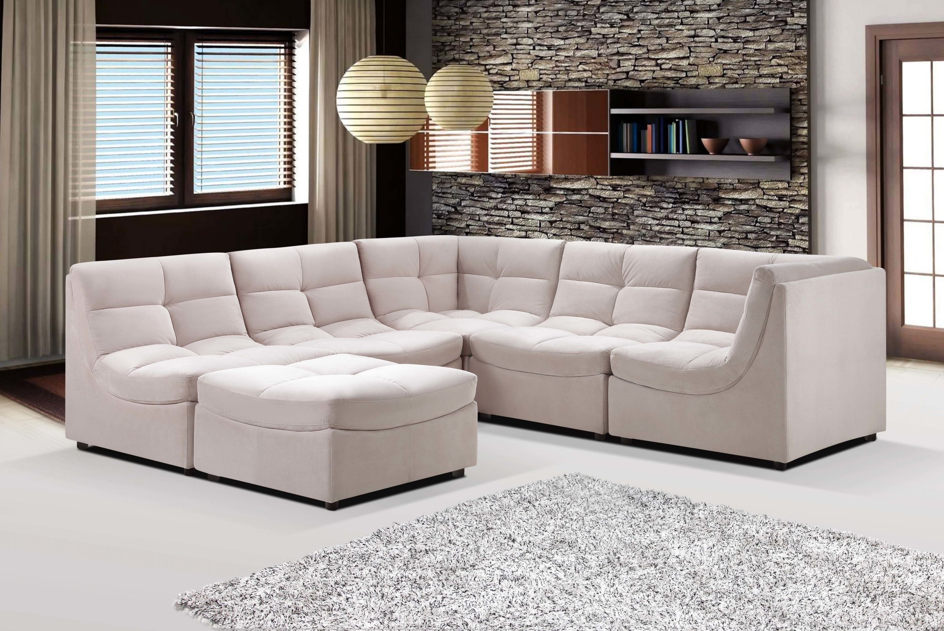 Latest Leather Modular Sectional Sofas Within Small Modular Sectional Sofa 21 For Your Sofa Sectionals For Cloud (View 6 of 20)