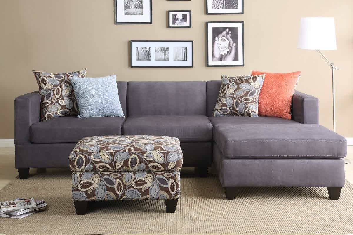 Latest Leather Sectional Sleeper Sofa Modular Brown Couch Small Apartment Throughout Sectional Sofas For Small Rooms (View 4 of 20)