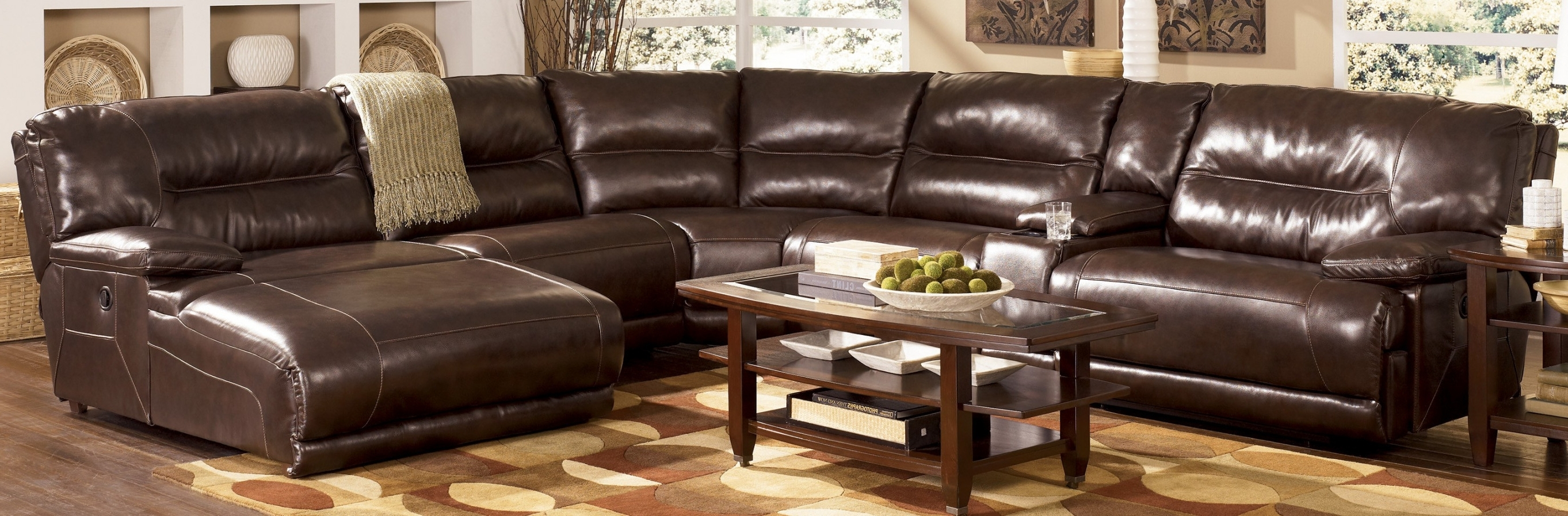 Latest Leather Sectional Sleeper Sofa Sectional Sofas With Recliners And With Regard To Sectional Sofas With Recliners Leather (View 19 of 20)