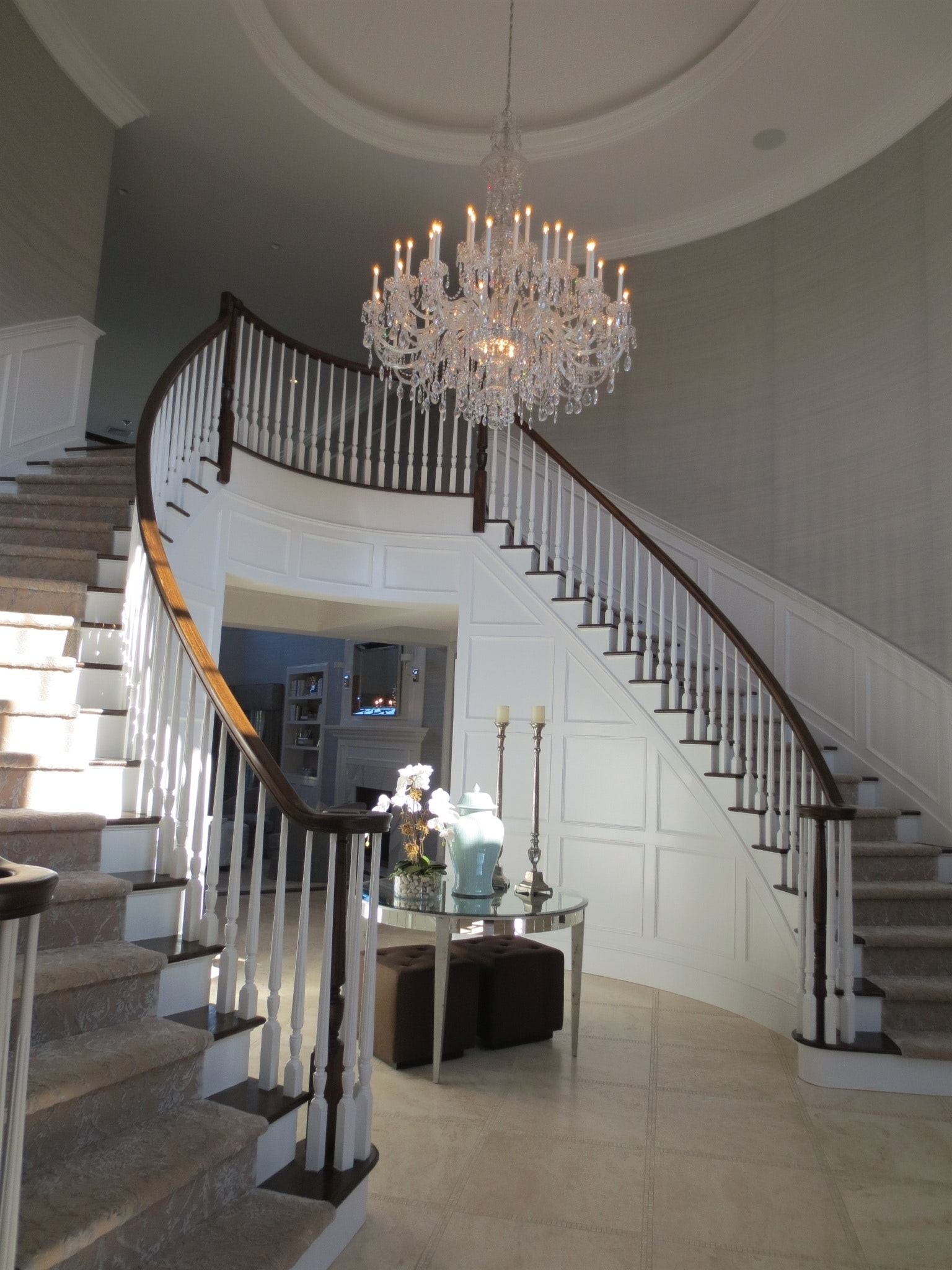 Latest Light : Large Chandeliers For Foyers And Best Stairway Lighting Inside Stairway Chandelier (View 4 of 20)