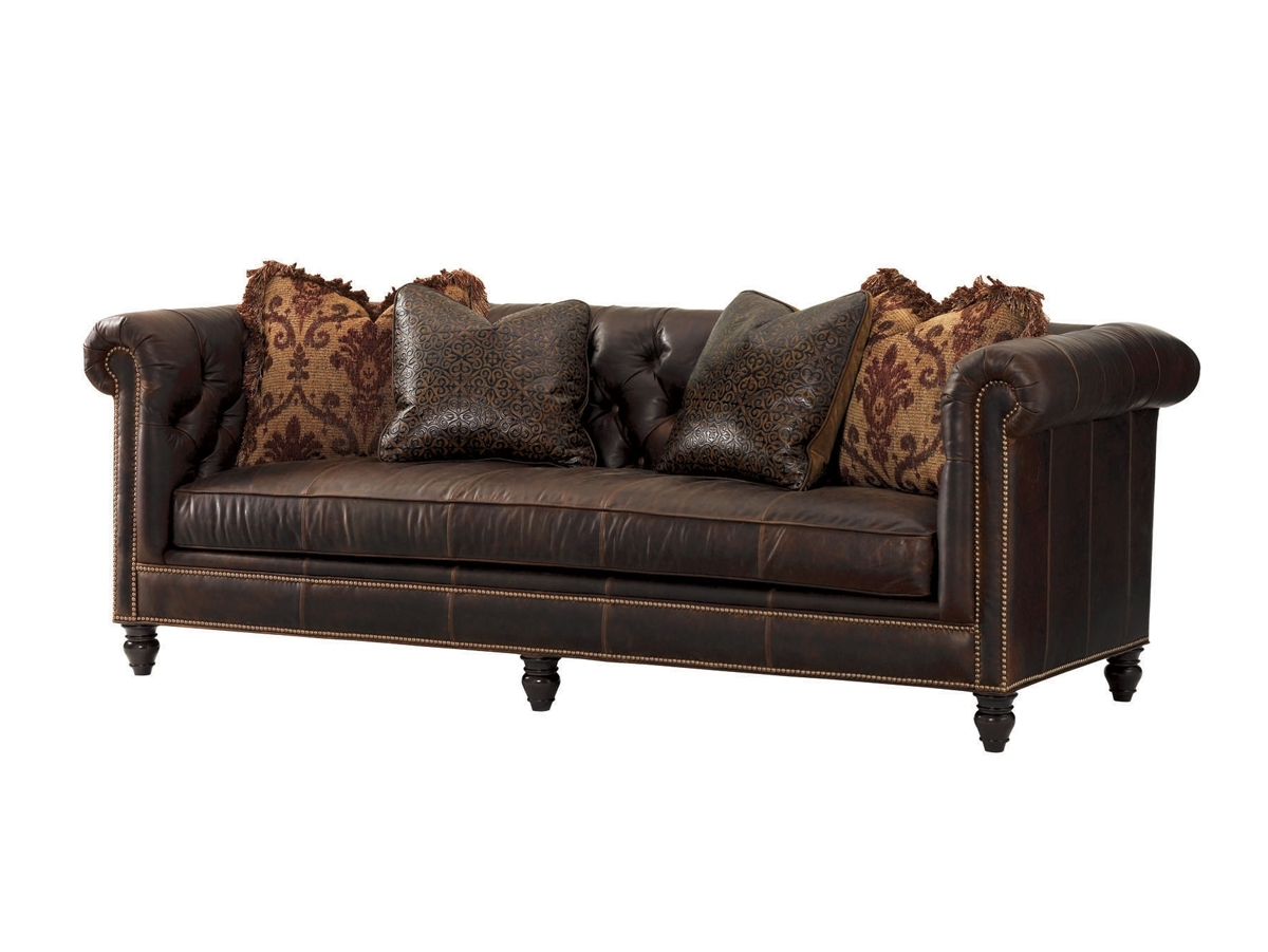 Latest Manchester Sofas Throughout Tommy Bahama Upholstery Manchester Leather Sofa (View 5 of 20)