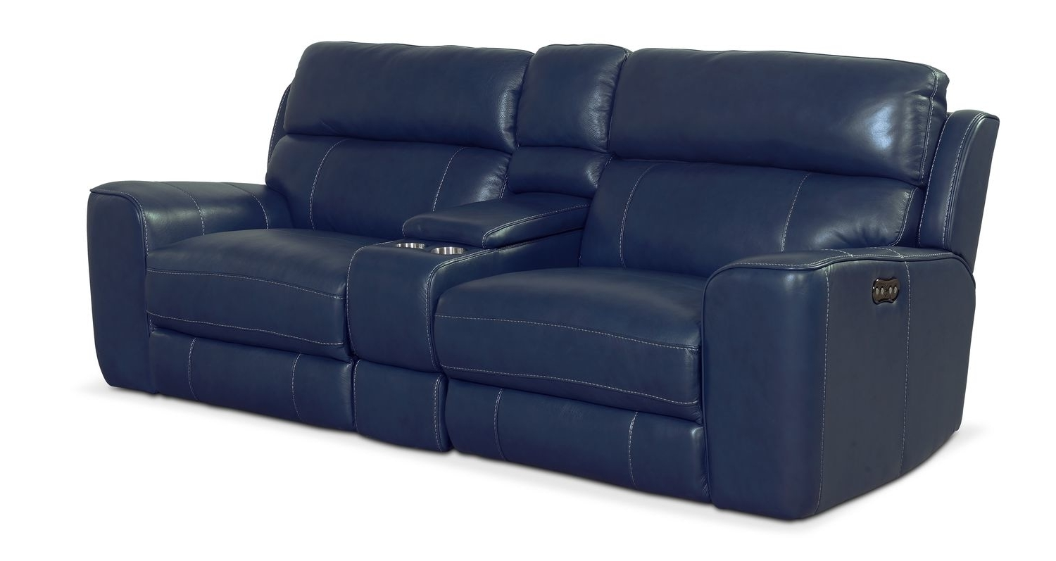 Latest Newport 3 Piece Power Reclining Sofa – Blue (View 9 of 20)