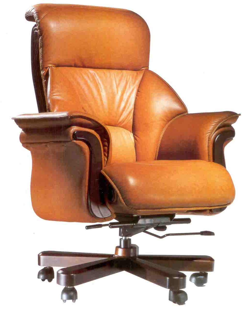 Latest Office: Office Chairs Ideas With Cream Leather Executive Chair In Green Leather Executive Office Chairs (View 10 of 20)