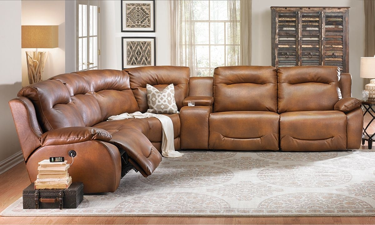 Latest Power Plus Reclining Sectional Sofa (View 7 of 20)