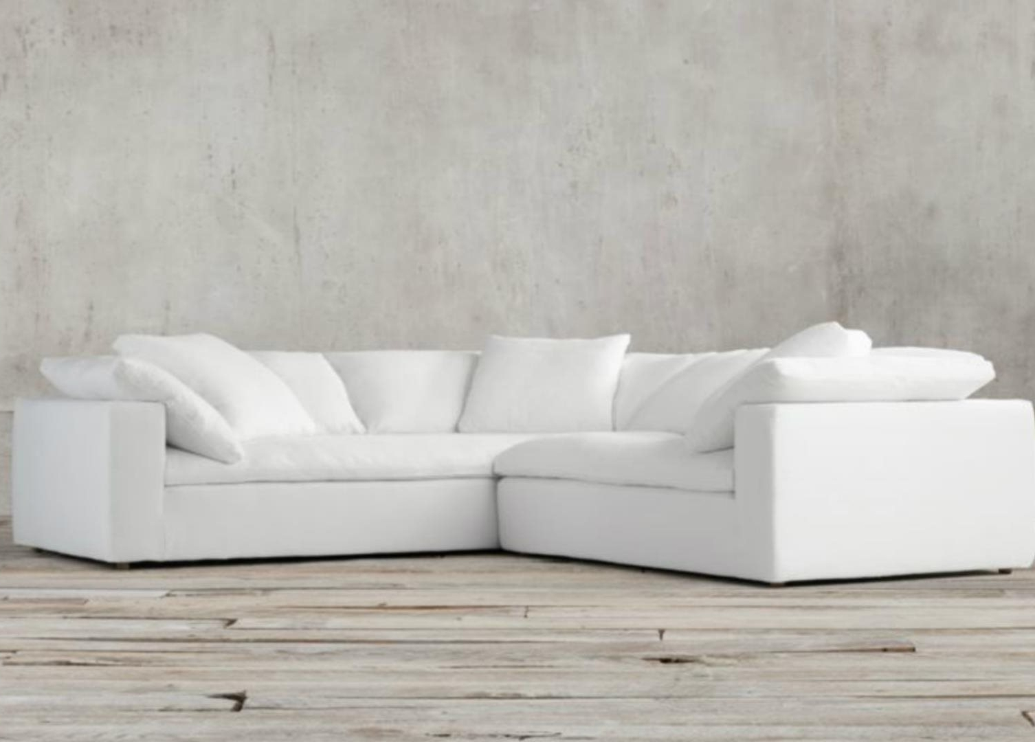 Latest Restoration Hardware Sectional Sofas Pertaining To Restoration Hardware Cloud Modular Slipcovered Sofa: For Sale In (View 15 of 20)