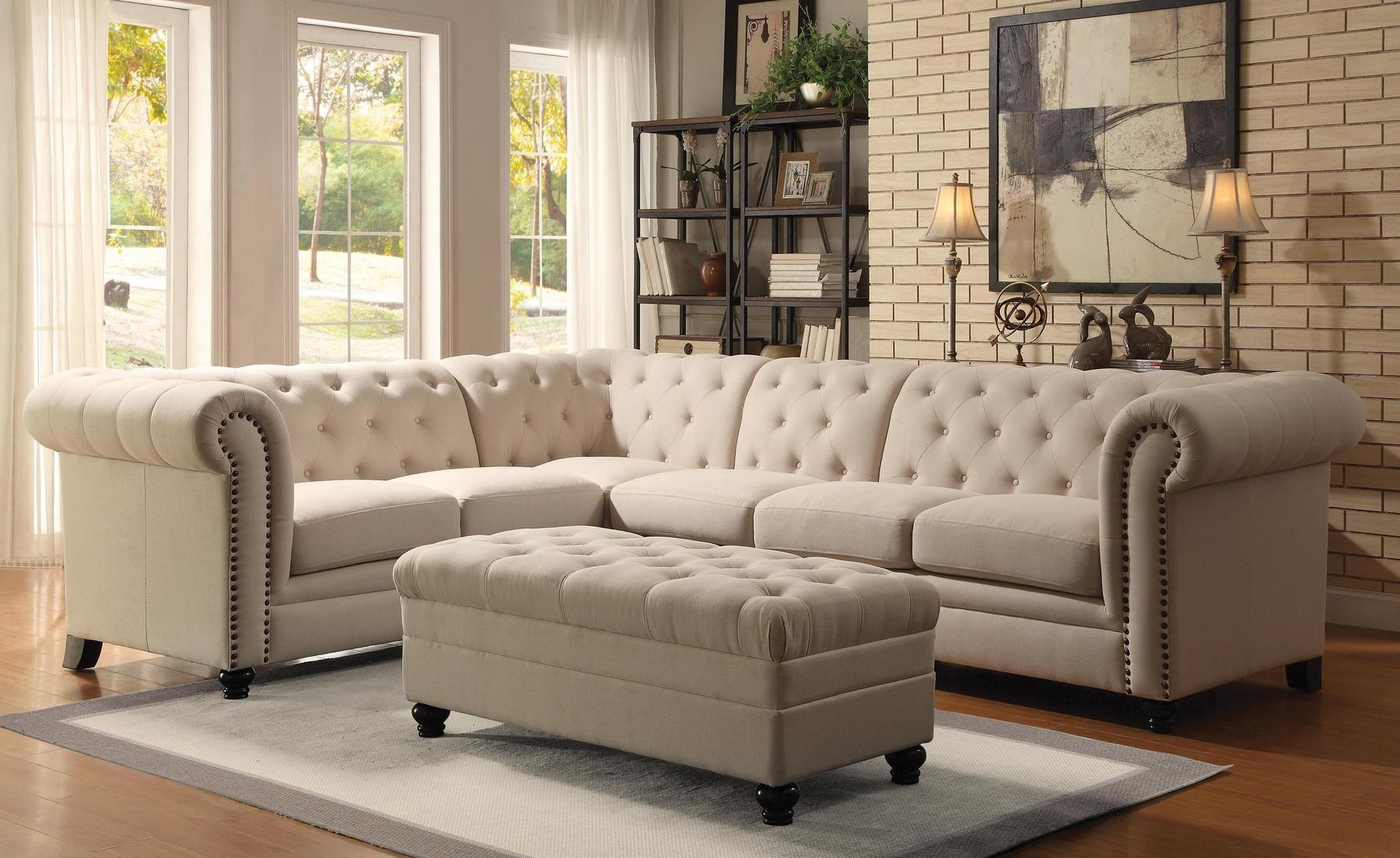 Latest Roy Oatmeal Sectional Sofa 500222 Coaster Furniture Sectional Intended For Good Quality Sectional Sofas (View 20 of 20)