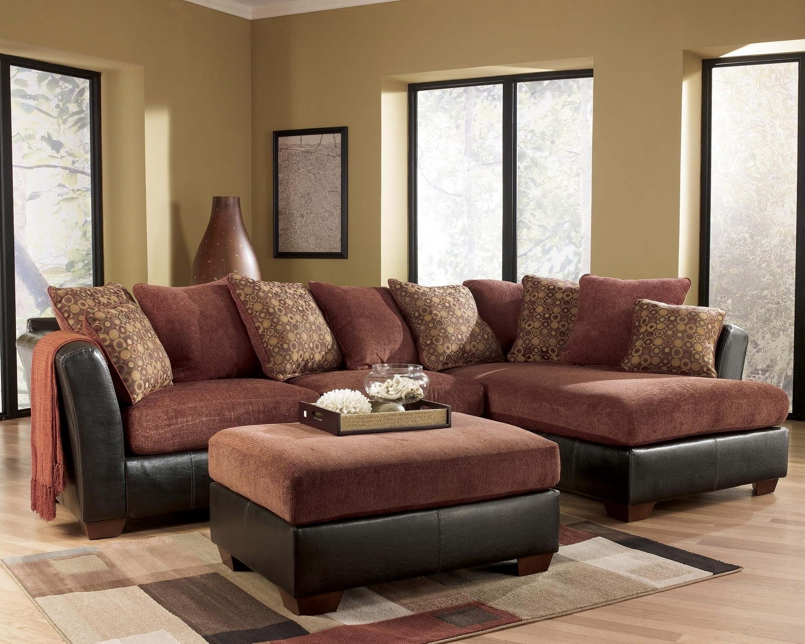 Latest Sectional Sofas At Ashley Pertaining To Sofa : Ashley Chamberly Sectional Sofa Ashley Durablend Sectional (View 5 of 20)