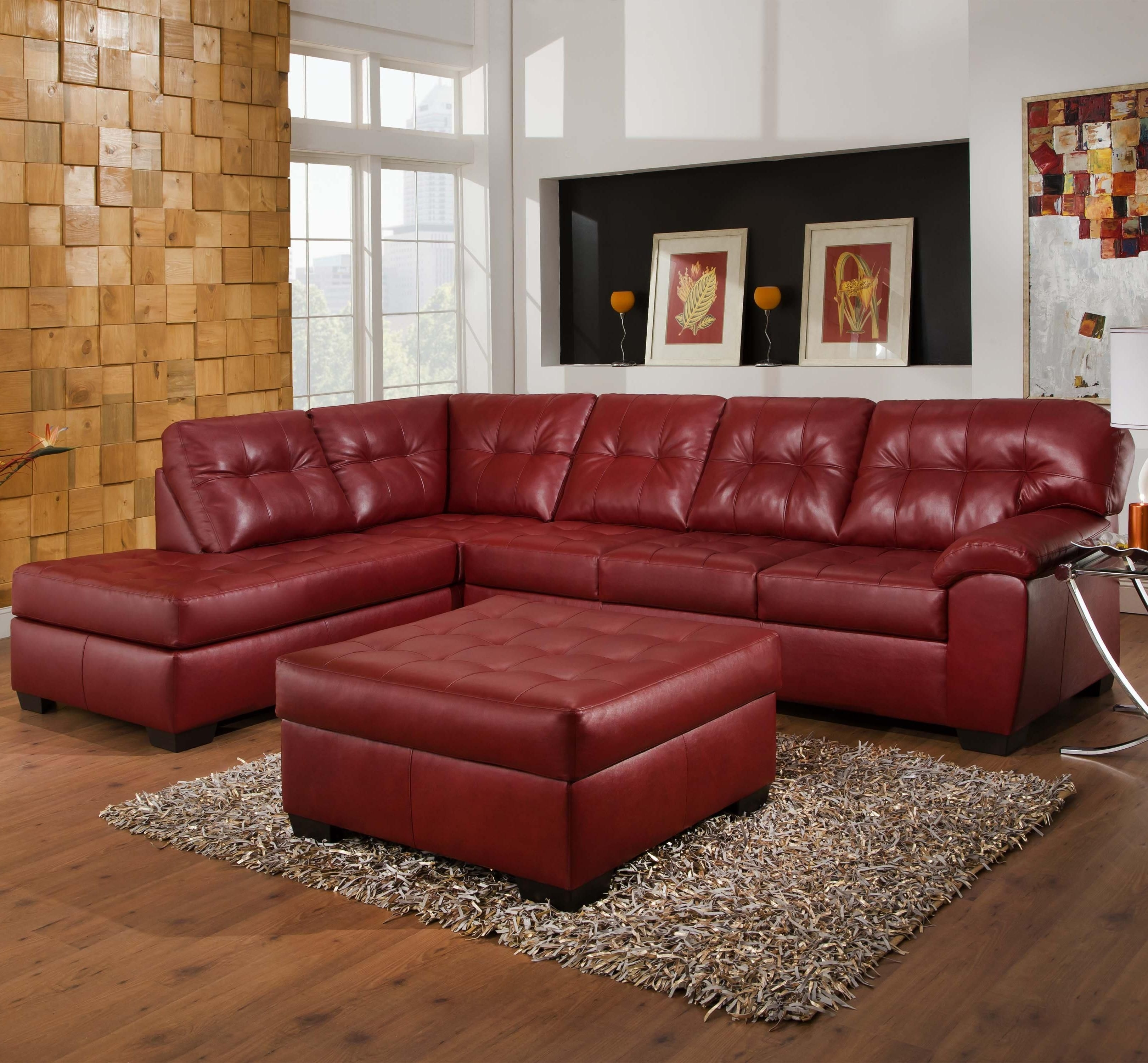 Latest Sectional Sofas At Bad Boy Intended For 9569 2 Piece Sectional With Tufted Seats & Backsimmons (View 5 of 20)